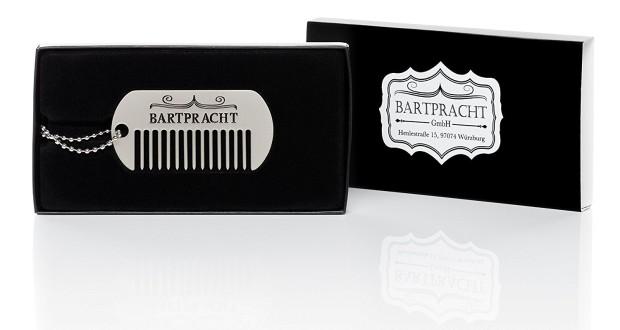Bartpracht - Collana con pettine per barba vintage