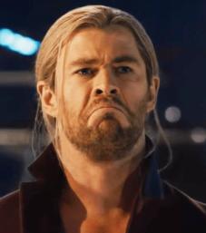 Thor insoddisfatto della sua barba
