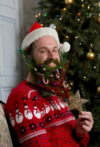 Barba addobbata per Natale