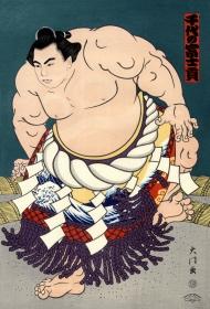 Illustrazione di un lottatore di sumo